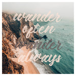 Wander Often - Typography Print