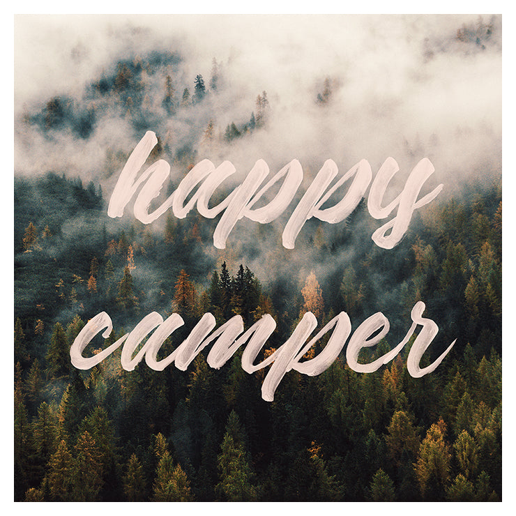 Happy Camper - Typography Print