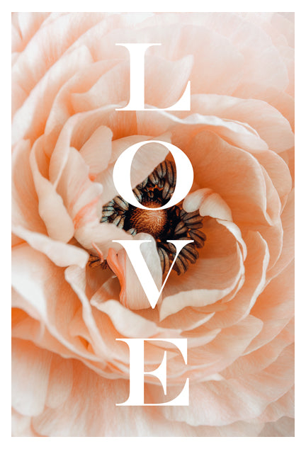Love Flower - Typography Print