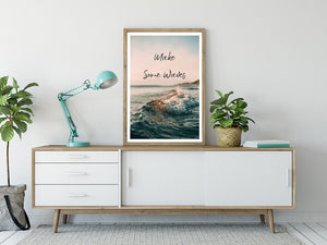 Make Some Waves - Typography Print