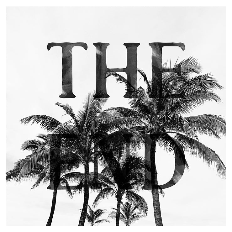 The End - Typography Print