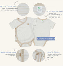 Load image into Gallery viewer, Organic BLANC Newborn Bodysuit