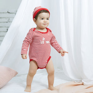 Organic BONI Red Bodysuit & Hat Set