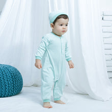 Load image into Gallery viewer, Organic BONI Mint Jumpsuit & Hat Set