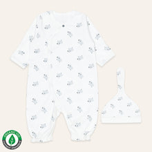 Load image into Gallery viewer, Organic BABA Converter Sleep Gown Onesie & Hat set
