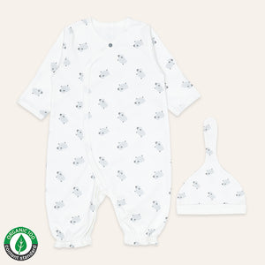 Organic BABA Converter Sleep Gown Onesie & Hat set