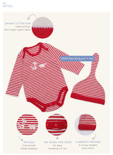 Load image into Gallery viewer, Organic BONI Red Bodysuit & Hat Set