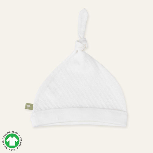 Organic CIRCLE Newborn Adjustable Knot Hat