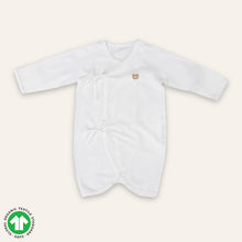 Load image into Gallery viewer, Organic WHITE Newborn Suit