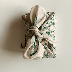 bandana used as gift wrap
