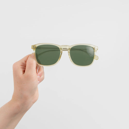 Will - Clear Yellow Square Sunglasses