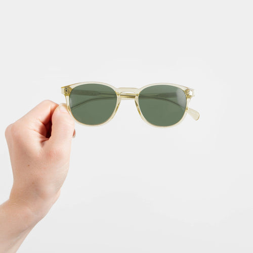Dee - Clear Yellow Oval Sunglasses