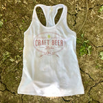 Craft Beer Babe Tank White
