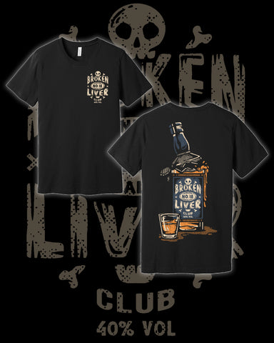 Broken Liver Bottle Shirt Black