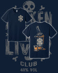 Broken Liver Bottle Shirt Navy