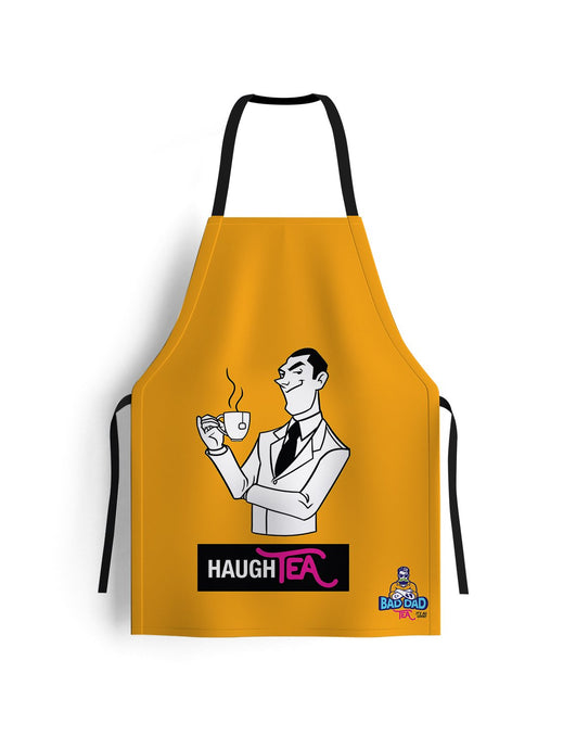 100% cotton unisex kitchen apron. Yellow. Perfectly sized to fit anybody (70cm x 80cm)! Witty cartoon: haughty