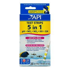 API 5-in-1 Aquarium Test Kit Strips - Aquatica Aquarium Gallery Fish Store Cleveland Ohio