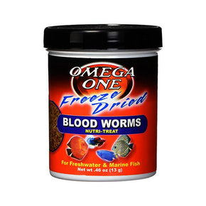 Omega Sea Freeze Dried Blood Worms - Aquatica Aquarium Gallery Fish Store Cleveland Ohio