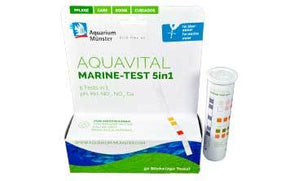 Aquarium Münster Aquavital 5-in-1 Marine Test Strips - Aquatica Aquarium Gallery Fish Store Cleveland Ohio