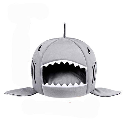 Shark Shaped Pet Sleeping Bed House - Pets.al