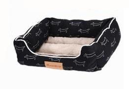 Large Sleeping Bed Black - Pets.al