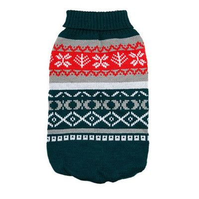Wool Sweater With Christmas Design for Dogs - Pets.al
