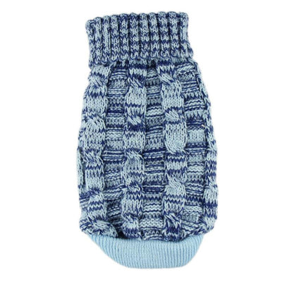 Stretchable Blue Winter Sweater for Dogs - Pets.al