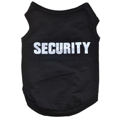 Dog Cotton T-Shirt Security Design - Pets.al