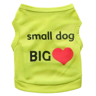 Small Dog Big Love College Dog T-Shirt - Pets.al