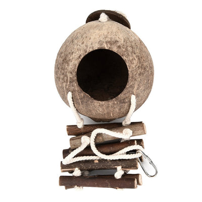 Bird Toy Hanging Hammock Swing With Wooden Ladder