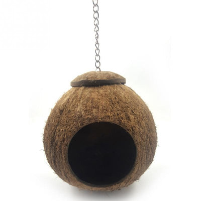 Natural Coconut Shell Hanging Bird Nest House - Pets.al