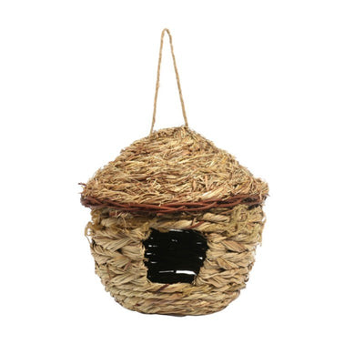Straw Weaved House Shape Bird Hang Nest