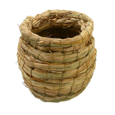 Straw Weaved Jar Shape Bird Nest