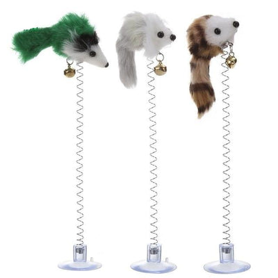 Cat Toys 3 In 1 Elastic Feather Mouse - Pets.al