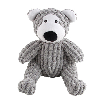 Plush Dog Toy Bear Design With Integrated Squeaker - Pets.al
