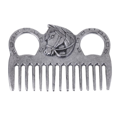 Professional Stainless Steel Polished Horse Grooming Comb Tool Currycomb Accessory Equipment For Horse Care Products Silver - Pets.al