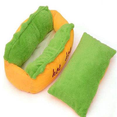 Hot Dog Designed Dog Sleeping Bed - Pets.al