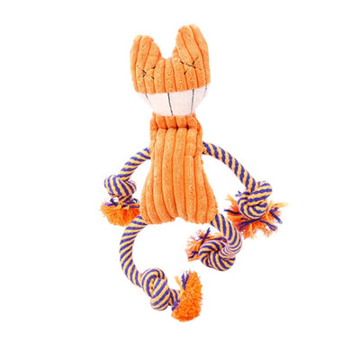 Plush Dog Chew Toy Jackstraw Design With Integrated Squeaker - Pets.al