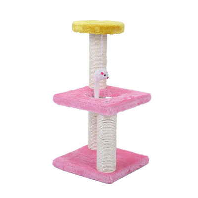 Cat Tree House With Scratch board (Random Color) - Pets.al
