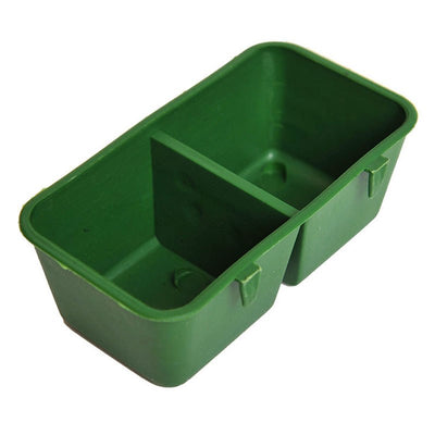 Bird Cage Food Water Feeder Box Double