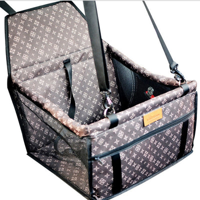 Portable Foldable Pets Dogs Cats Car Crate Lookout Booster Seat Bag Carrier Travel Outdoor Pets Beds Geometric Pattern - Pets.al