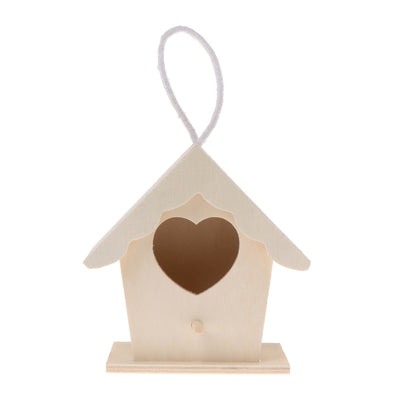 Natural Wooden Handmade Hanging Bird House