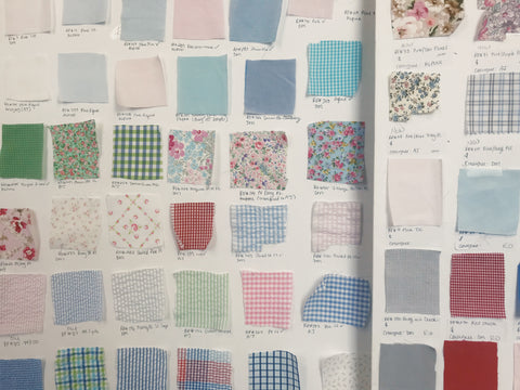 fabric swatch board for Petit Ami