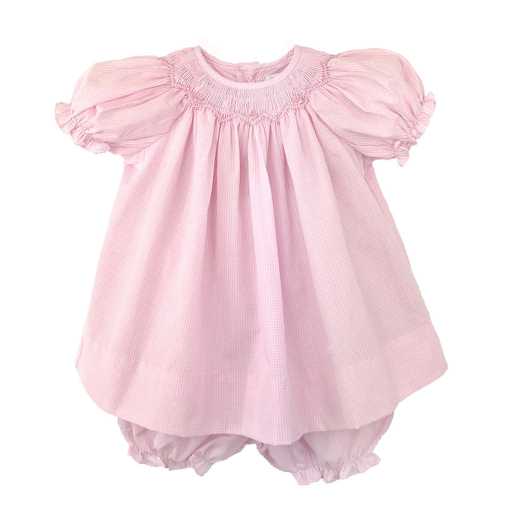 Newborn Bishop Zig Zag Smocked Dress
