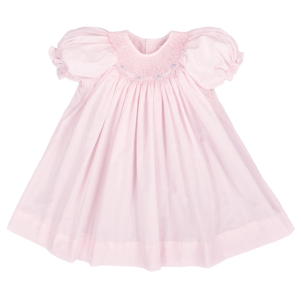 Smocked Daygown with Raglan Embroidery - Petit Ami & Zubels    All Baby!