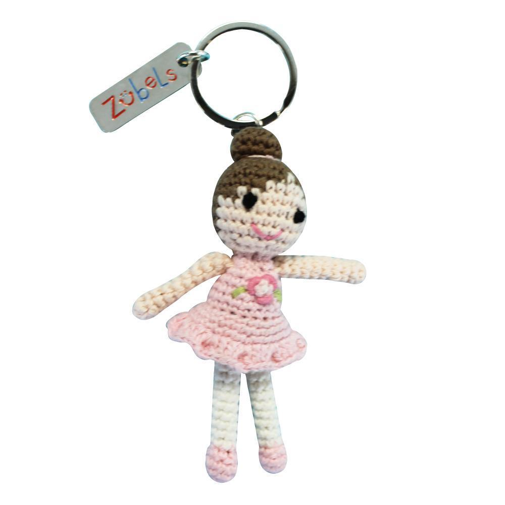 Ballerina Crochet Key Chain toy zubels