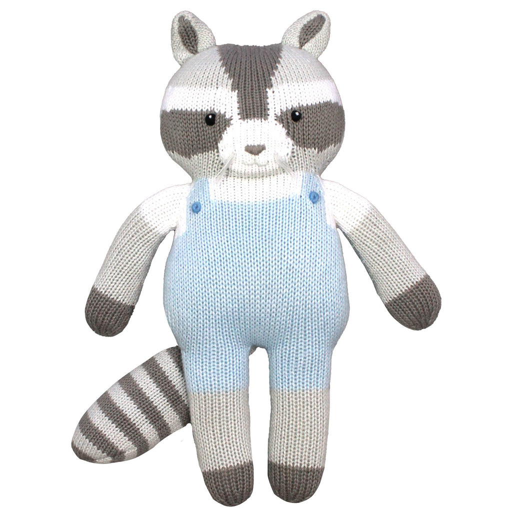 Bandit the Raccoon Knit Doll toy zubels