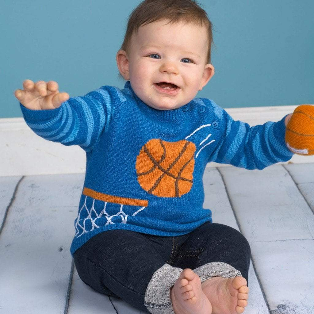 Basketball Knit Sweater - Petit Ami & Zubels    All Baby!