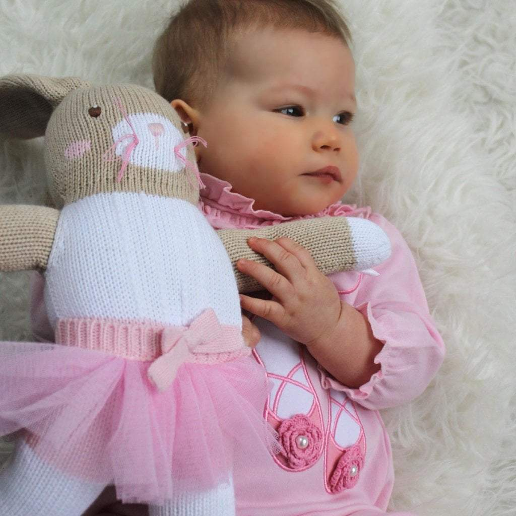 Betsie the Ballerina Bunny Knit Doll - Petit Ami & Zubels All Baby! toy