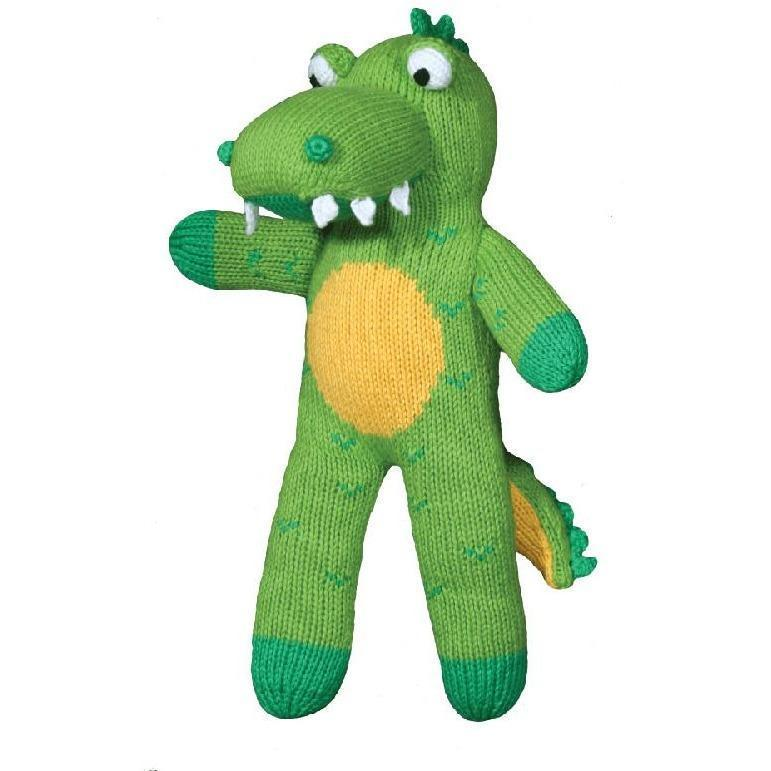 'Big Al' the Alligator Hand Knit Doll - Petit Ami & Zubels    All Baby!